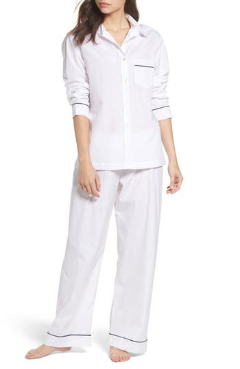 Pour Les Femmes Piped Pajamas