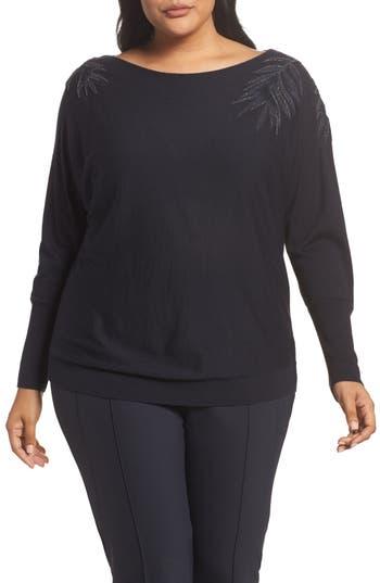 Lafayette 148 New York Cashmere & Silk Dolman Sweater (Plus Size)