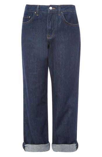 Topshop Boutique Indigo Crop Boy Jeans