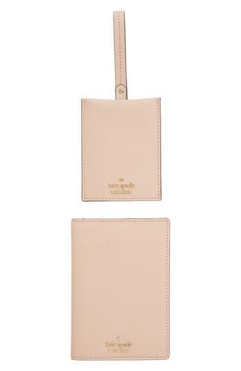 kate spade new york leather passport case & luggage tag set