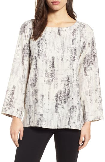 Eileen Fisher Print Tencel® Blend Top