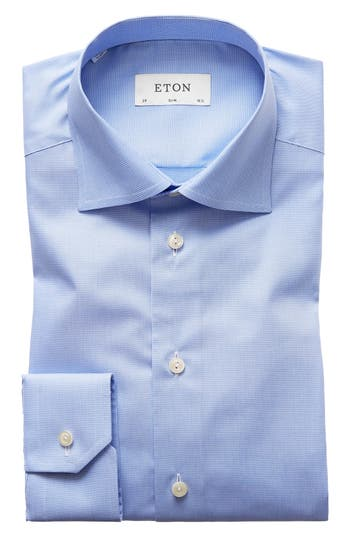 Slim Fit Houndstooth Dress Shirt by Eton