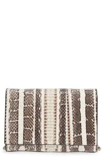 Small Yasmeen Genuine Snakeskin Clutch by Michael Kors