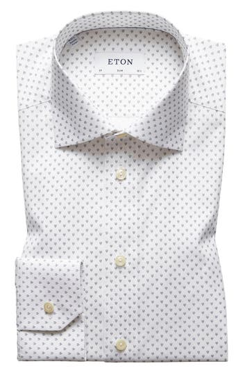 Slim Fit Geometric Dress Shirt by Eton