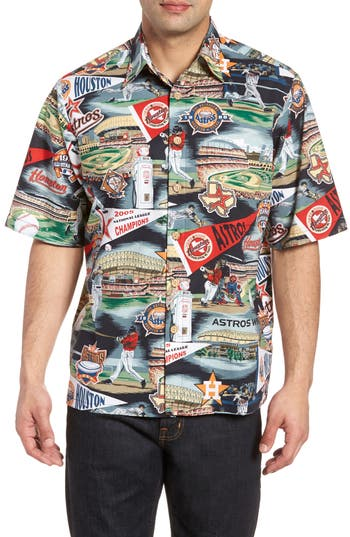 Great Deals Reyn Spooner Houston Astros Classic Fit Camp Shirt