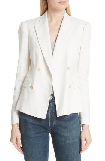 Stretch Linen Blend Blazer by Rebecca Taylor