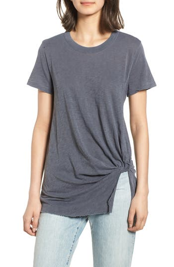 Twist Hem Slub Supima® Cotton Tee by Stateside