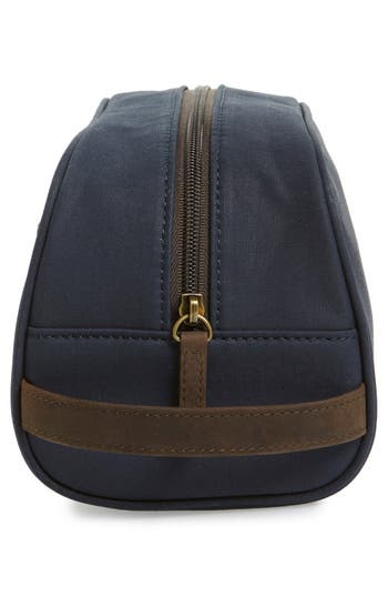Waxed Canvas Travel Kit,                             Alternate thumbnail 4, color,                             Navy