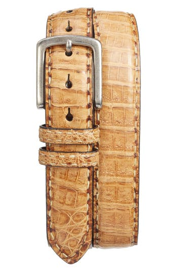 Torino Belts Caiman Leather Belt