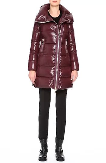 'Joinville' Water Resistant High Collar Down Puffer Coat, video thumbnail