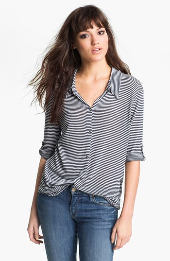 Alternate Image 1 Selected - Soft Joie 'Shey' Mini Stripe Jersey Shirt