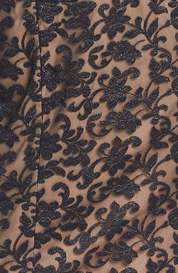 Alternate Image 3  - Alex Evenings Cap Sleeve Lace Sheath Dress (Plus Size)