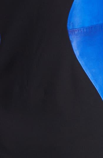 Alternate Image 3  - Diane von Furstenberg 'Dayton' Stretch & Leather Sheath Dress