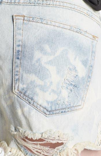 Alternate Image 3  - Free People Crochet Trim Cutoff Denim Shorts (White Cloud)