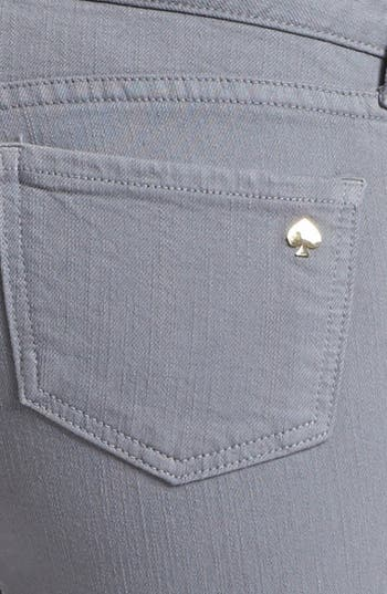 Alternate Image 3  - kate spade new york 'broome street' overdyed skinny jeans (Medium Grey)