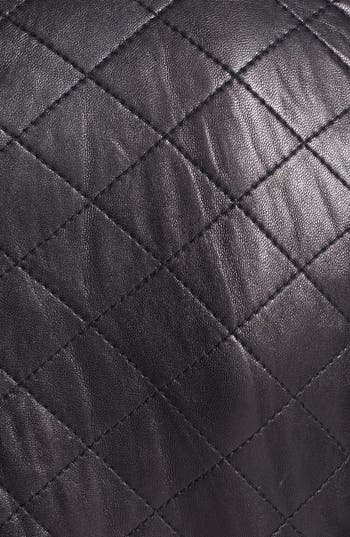 Alternate Image 3  - GUESS Shoulder Trim Quilted Leather Jacket (Nordstrom Exclusive)