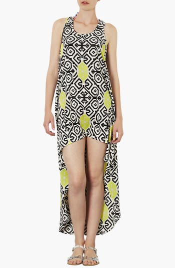 Alternate Image 1 Selected - Topshop Tile Print High/Low Cover-Up