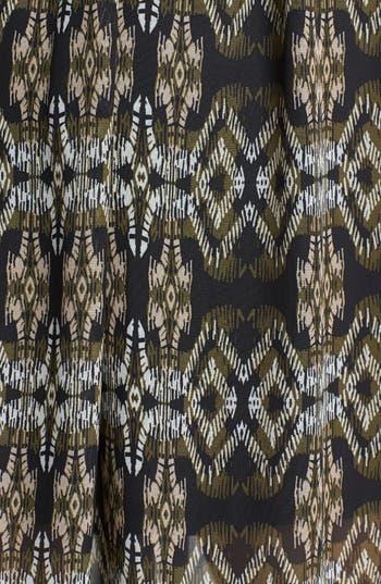 Alternate Image 3  - Mimi Chica Lace Inset Print Maxi Dress (Juniors)