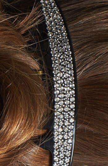 Alternate Image 2  - France Luxe 'Swarovski Pavé' French Twist Comb