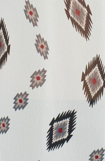 Alternate Image 3  - Lush Fringed Split Back Print Woven Top (Juniors)