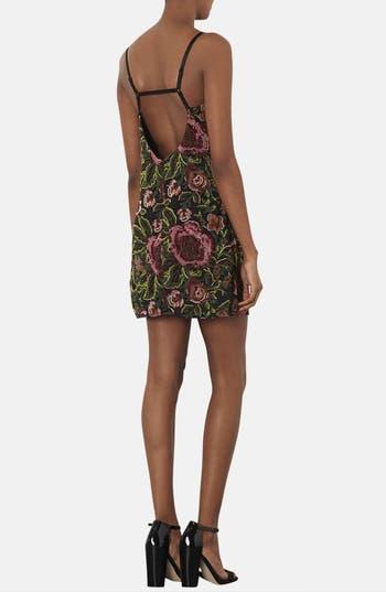 Alternate Image 2  - Topshop Embellished Floral Slipdress