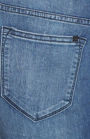 Alternate Image 3  - SP Black High Waist Skinny Jeans (Medium Wash) (Juniors) (Online Only)