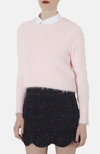 Main Image - Topshop Ribbed Knit Crop Sweater