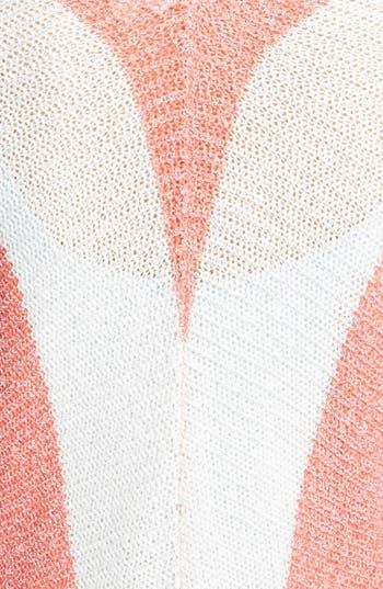 Alternate Image 4  - BP. Stripe Open Front Long Cardigan (Juniors)