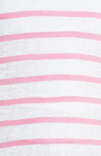 Alternate Image 3  - Mimi Chica Stripe Burnout Dolman Tee (Juniors) (Online Only)