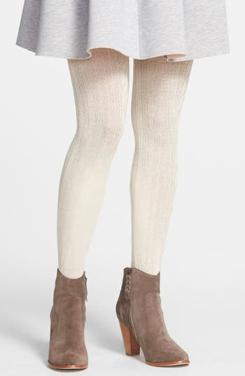 Hue Cable Knit Sweater Tights Nordstrom