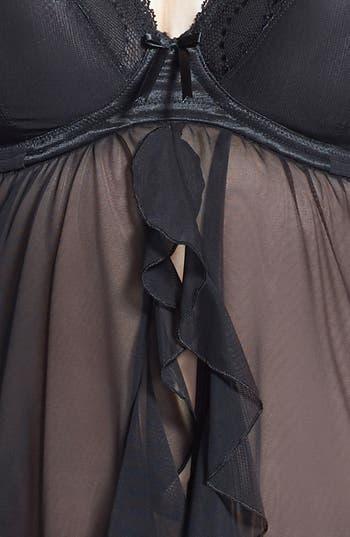 Alternate Image 3  - Elomi 'Maria' Mesh Underwire Plunge Babydoll  (Plus Size)