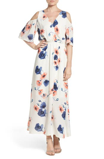 Fraiche by J Cold Shoulder Maxi Dress