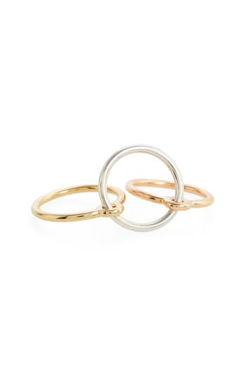 Three Lovers Linked Rings by Charlotte Chesnais