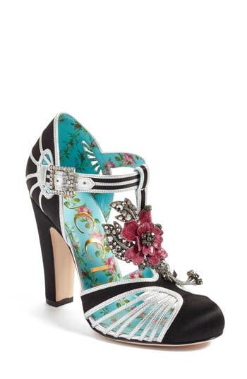 Gucci Mariska Embellished T-Strap Pump (Women)