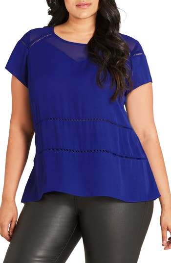 City Chic Night Out Top (Plus Size)