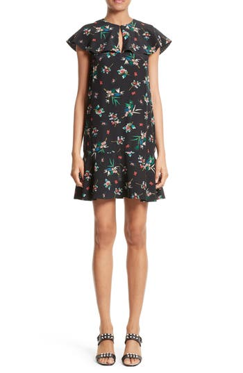 RED Valentino Wallpaper Floral Print Silk Dress
