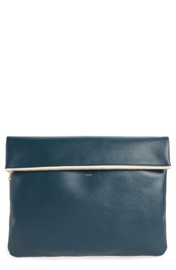 MT Craig Large Faux Leather Clutch
