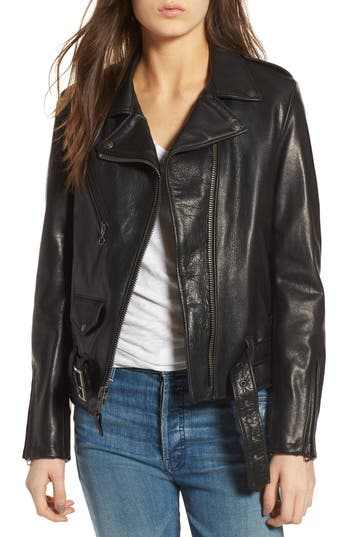 Schott NYC Lightweight Perfecto Leather Jacket