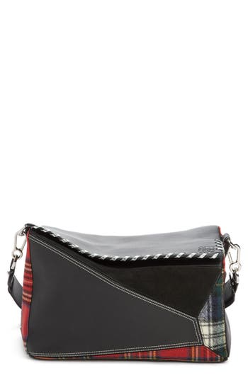 Loewe Medium Multi Tartan Puzzle Bag