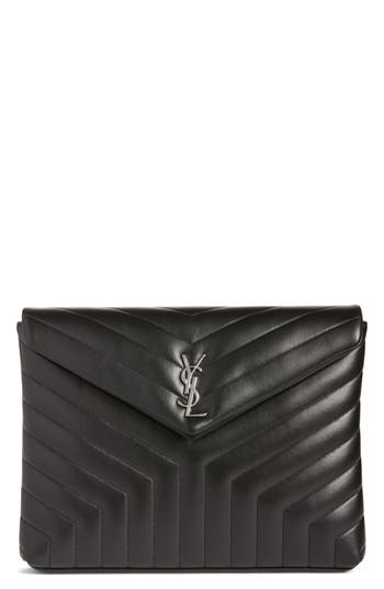 Saint Laurent Large Loulou Matelass? Leather Pouch