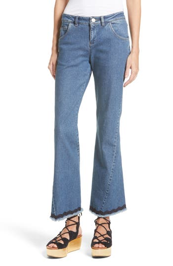 See by Chloé Scallop Trim Bootcut Jeans (Shady Cobalt)