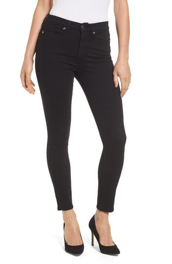 Good American Good Legs High Rise Crop Skinny Jeans (Black 001) (Extended Sizes)