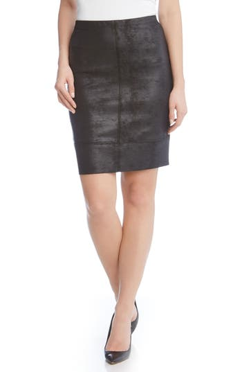 Karen Kane Stretch Faux Leather Skirt