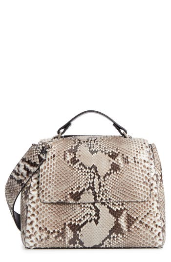 Orciani Small Sveva Genuine Python Satchel