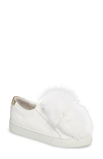 Here / Now Sugar Genuine Fox Fur Slip-On Sneaker (Women)