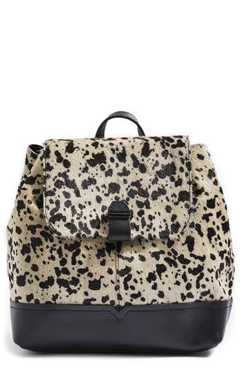 Topshop Premium Leather & Genuine Calf Hair Backpack