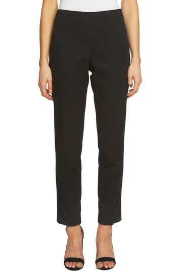 CeCe Diamond Jacquard Pants