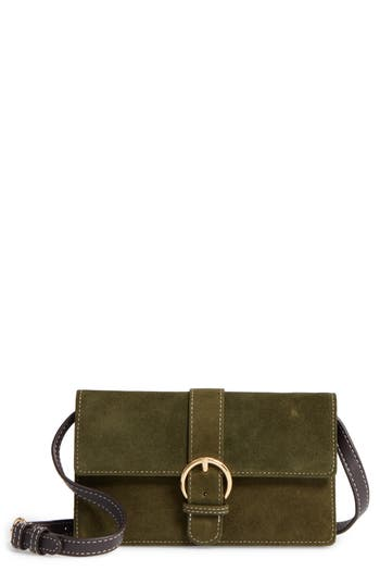 Frances Valentine Suede Crossbody Wallet