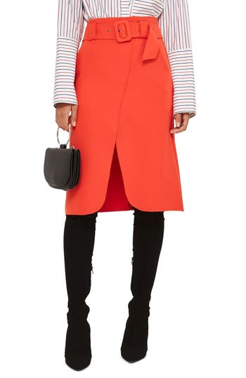 Topshop Belted Curve Faux ..