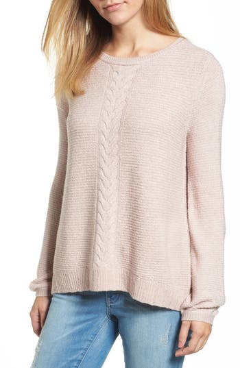 Caslon® Cable Front Sweater